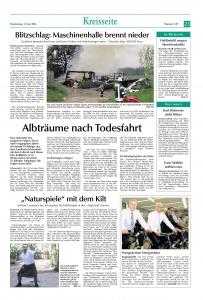 Brand Maschinenhalle Schlotthof FFW Niedermurach