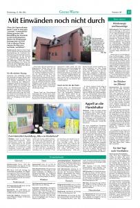Zeitungsartikel Hallentor 2016 FFW Niedermurach