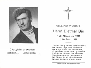 Bär Dietmar +10.03.1998