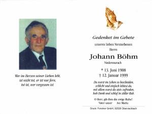 Böhm Johann +12.01.1999