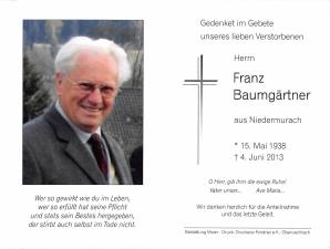 Baumgärtner Franz +04.06.2013