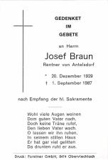 Braun Josef +01.09.1987