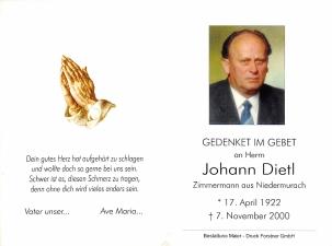 Dietl Johann +07.11.2000