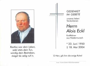 Eckl Alois +18.05.2004