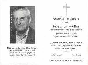 Fröller Friedrich +28.10.1987