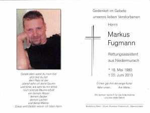Fugmann Markus +22.06.2013