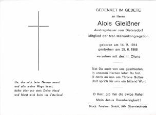 Gleißner Alois 1 + 25.06.1988