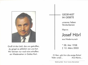 Hörl Josef +12.03.2003