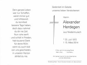 Herdegen Alexander +15.03.2014