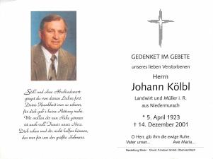Kölbl Johann +14.12.2001