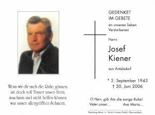 Kiener Josef +30.06.2006