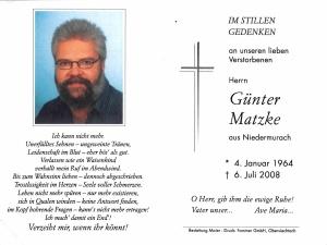 Matzke Günter +06.07.2008