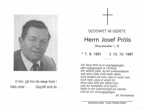 Pröls Josef +13.10.1997