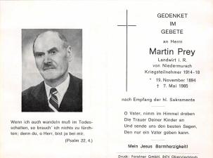 Prey Martin + 07.05.1985