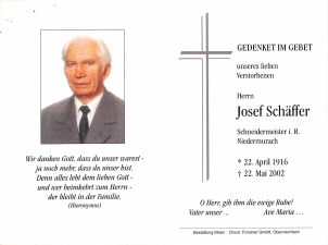 Schäffer Josef +22.05.2002