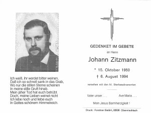 Zitzmann Johann +06.08.1994
