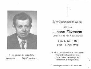 Zitzmann Johann +15.06.1996