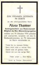 Alois Thanner +19.10.1974