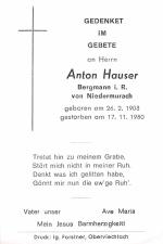 Anton Hauser +17.11.1980