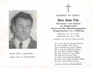 Anton Pröls +13.05.1982
