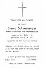 Georg Schneeberger +26.10.1981
