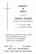 Jakob Köppl +11.12.1984