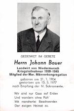 Johann Bauer +15.5.1977