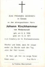 Johann Kirchhammer +12.08.1971