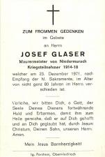 Josef Glaser +23.12.1971