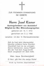 Josef Kiener +3.2.1980
