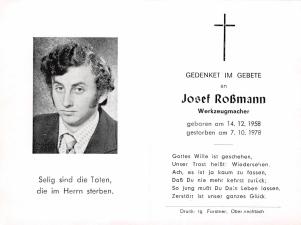 Josef Roßmann +7.10.1978