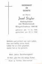 Josef Stigler +29.5.1980