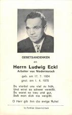 Ludwig Eckl +1.4.1970