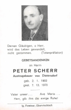 Peter Scherr +7.12.1970