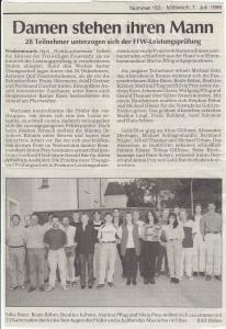 Leistungsabzeichen 1999 @FFW Niedermurach