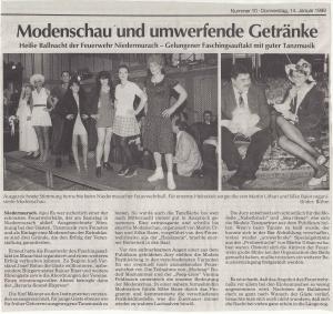 Feuerwehrball 1999 @FFW Niedermurach