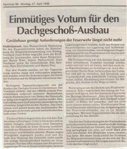 Mitgliederversammlung 1998 @FFW Niedermurach