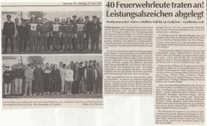 Leistungsabzeichen 1997 @FFW Niedermurach