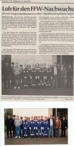 JFW 1. Gruppe erwirbt Jugendspange 1997 @FFW Niedermurach