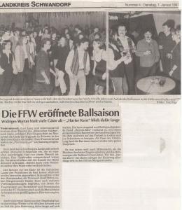 Feuerwehrball 1997 @FFW Niedermurach