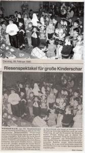 Kinderfasching 1995 @FFW Niedermurach