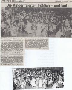 Kinderfasching 1994 @FFW Niedermurach