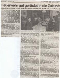 Generalversammlung 1994 @FFW Niedermurach