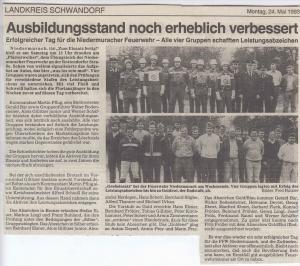 Leistungsabzeichen 1993 @FFW Niedermurach