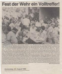 Sommerfest 1992 @FFW Niedermurach