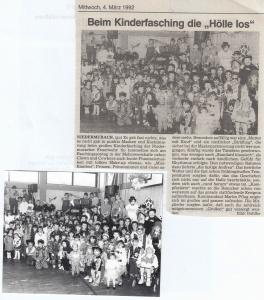 Kinderfasching 1992 @FFW Niedermurach