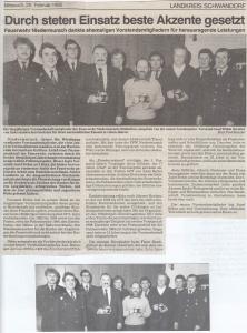 Ehrungsabend 1992 @FFW Niedermurach