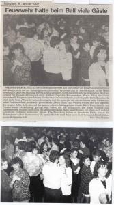 Feuerwehrball 1992 @FFW Niedermurach