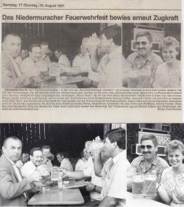 Sommerfest 1991 @FFW Niedermurach
