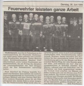 Leistungsabzeichen 1990 @FFW Niedermurach